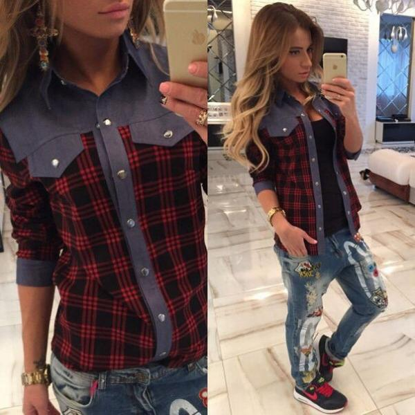 Фото женские модные рубашки