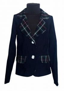 Фото Детские пиджаки, кофты для девочек оптом Классический темно-синий пиджак, подросток р. 128-152