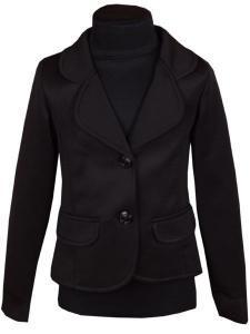 Фото Детские пиджаки, кофты для девочек оптом Черный детский пиджак