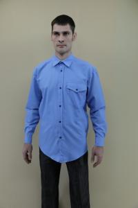 Фото  Рубашки мужские в клетку оптом