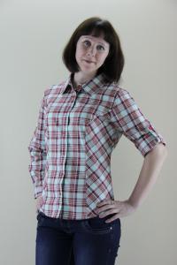 Фото  Рубашки женские в клетку из шотландки и трикотажа