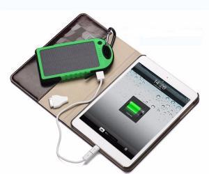 Фото Солнечные аккумуляторы Солнечная батарея панель зарядное устройство двойное USB  5000 мАч Противоударная водонепроницаемая