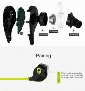 Фото Наушники Гарнитуры QCY Qy7 Bluetooth наушники спорт гарнитура с микрофоном Handfree