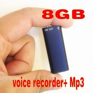 Фото Цифровые диктофоны Mp3 плееры TS080 SK-892 Диктофон мини  8 ГБ цифровой аудио-рекордер MP3 Плеер