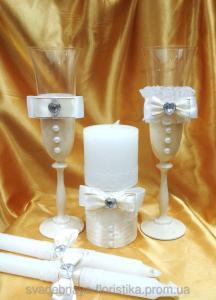 Фото Свадебные аксессуары в едином стиле Свадебный комплект