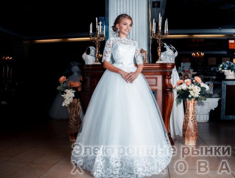 Свадебное платье Летиция (с рукавом)