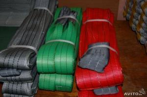 Фото Стропы грузоподъемные (канатные, цепные, текстильные) Стропы текстильные ленточные