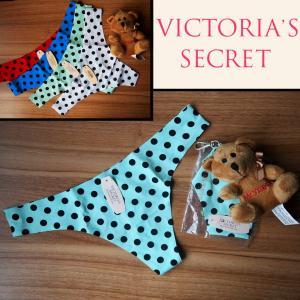 Фото Женское бельё Victoria Secret Бесшовные стринги  Victoria Secret мятные в горошек