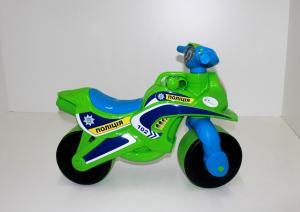 Фото Транспорт для детей МОТОБАЙК ПОЛІЦІЯ музыкальный в пакете 013952
