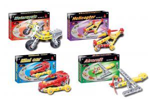 Фото Детские игрушки, Конструкторы, Металлические Конструктор метал 529-1922 240шт2 4 вида, в коробке