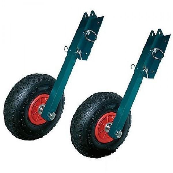 колеса для перемещения надувной лодки