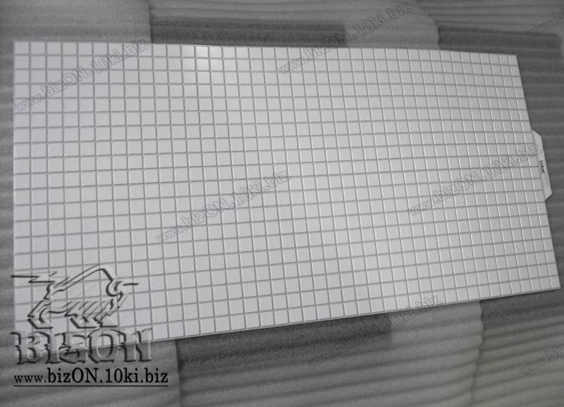 Фото Листовые панели ПВХ МОЗАИКА  «БЕЛАЯ С СЕРЫМ ШВОМ»  Листовые панели ПВХ для внутренней декоративной отделки