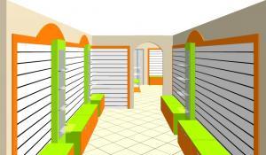 Фото  Торговое оборудование для магазина одежды Витрины торговые