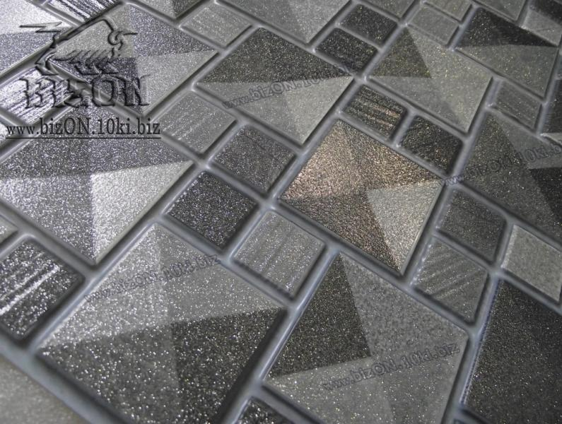 Фото Листовые панели ПВХ Мозаика  «САХАРА СЕРЕБРО»   Листовые панели ПВХ для внутренней декоративной отделки
