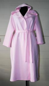 Фото Женские халаты Халат Капитоний Запах-Капюшон ,  арт. 0401, р-ры: 44-58, розовый