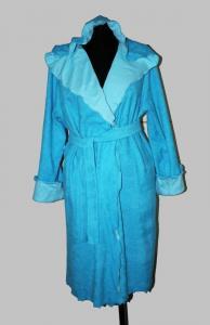 """Фото Купить халаты… Халат махровый запах, двойной капюшон """"Василек"""", арт. 0976, р-ры: 42-56"""