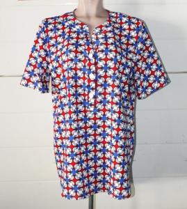 """Фото Блузы и водолазки Блуза рубашка """"Клетка"""" рукав до локтя Размеры: 50-64, остался 1 ряд"""