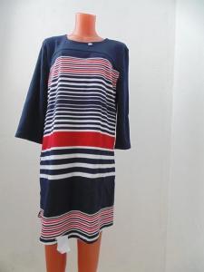 Фото Изделия интерлок Туника-платье  интерлок комбинированная 100-1, р-ры: 46-48, по 1 товару