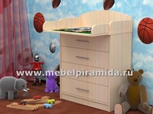 Фото Комоды Комод пеленальный КП-1(Пирамида)