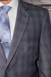 Фото Костюмы Костюм мужской серый в клетку