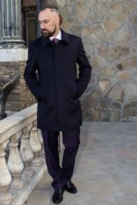 Фото Верхняя одежда Пальто мужское Donato черное
