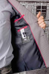Фото Пиджаки Пиджак мужской фактурный серый