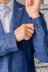 Фото Пиджаки Пиджак мужской синего цвета в клетку