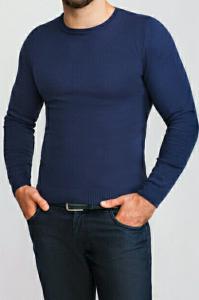 Фото Трикотаж Джемпер мужской темно-синий