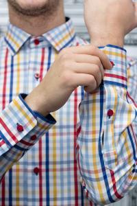 Фото Рубашки Рубашка Slim Fit в цветную клетку
