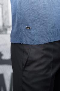 Фото Трикотаж Джемпер мужской синего цвета, вискоза