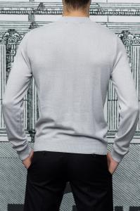 Фото Трикотаж Джемпер мужской светло-серого цвета, вискоза