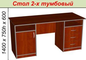 Фото Компьютерные столы Стол 2-х тумбовый