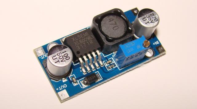Фото Мастер КИТ. Радиолюбительские модули, Стабилизаторы, регуляторы и прочее Регулируемый стабилизатор на XL6009 , повышающий