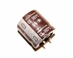 Фото Конденсаторы, Электролитические б/у фирменные Конденсатор nichicon 330 мкФ х 200В