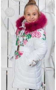 Фото Верхняя одежда (зима) 00/231 Пальто (зима) Василиса д/дев(белый)