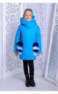 Фото Верхняя одежда (зима) 12189/1 Куртка ФЕЛИСИЯ зима д/дев(голубой)