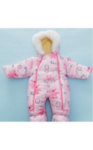 Фото Верхняя одежда (зима) 04051 Комбинезон( зима) МАЛЮТКА от 3 до 6 месяцев (розовый)