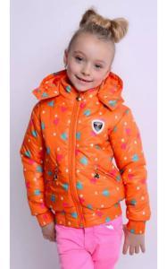Фото Верхняя одежда (весна-осень) 44021 Куртка Оксана весенняя (оранжевый)
