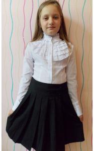 Фото ! РАСПРОДАЖА ! 01012 Юбка школьная ОТЛИЧНИЦА с запахом (черный)