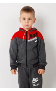 Фото Спортивная одежда 28010 Костюм спортивный ГРИША д/мал.(т.серый+красный)
