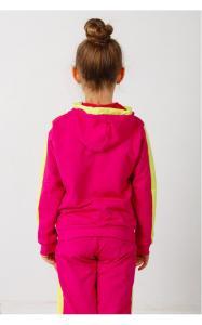 Фото Спортивная одежда 41-12 Костюм спортивный МОТЫЛЬКИ двунитка(малина+желтый)