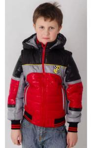 Фото Верхняя одежда (весна-осень) 01006 Жилет-куртка ТИМКА (красный+черный)