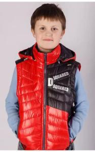 Фото Верхняя одежда (весна-осень) 5020 Жилет-куртка ВОЛЬДЕМАР демисезонная (красный)