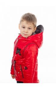 Фото Верхняя одежда (весна-осень) 270042 Куртка-жилет НАШИВКА демисезонная (красный)