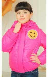 Фото Верхняя одежда (весна-осень) 04091 Куртка-жилет деми Анюта (малина)