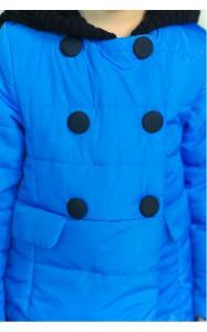 Фото Верхняя одежда (весна-осень) 12116 Куртка ШАРЛОТТА демисезонная д/дев(голубой)