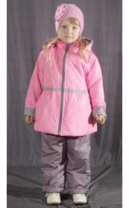 Фото Верхняя одежда (весна-осень) 1803161 Комплект КУКОЛКА весенне-осенний(нежно-розовый+серый)