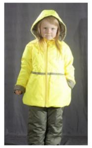 Фото Верхняя одежда (весна-осень) 1803163 Комплект КУКОЛКА весна-осень (желтый неон+оливковый)