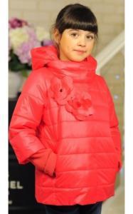 Фото Верхняя одежда (весна-осень) 30-033 Куртка ЛАЙМА демисезонная д/дев (коралл)