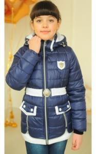 Фото Верхняя одежда (весна-осень) 3009 Куртка АНЖЕЛА демисезонная д/дев (джинс)